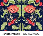seamless pattern with stylized... | Shutterstock .eps vector #1324624022