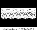 vintage lace cotton vector Decorative ornament for border