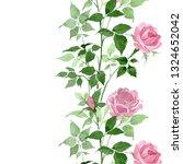 pink bush roses floral...   Shutterstock . vector #1324652042