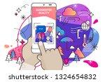 augmented reality amoeba style... | Shutterstock .eps vector #1324654832
