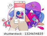 augmented reality amoeba style... | Shutterstock .eps vector #1324654835