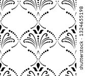 seamless ornament. modern black ...   Shutterstock . vector #1324655198