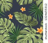 seamless pattern with tropical... | Shutterstock .eps vector #1324655312