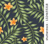 seamless pattern with tropical... | Shutterstock .eps vector #1324655318