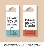 do not disturb sign and please... | Shutterstock .eps vector #1324657982