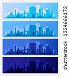 trendy city skyline colored... | Shutterstock .eps vector #1324666172