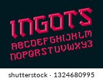 ingots alphabet. ruby faceted... | Shutterstock .eps vector #1324680995