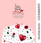 i love you concept design with... | Shutterstock .eps vector #1324686005