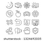 set of undo  atm and parcel... | Shutterstock .eps vector #1324692035