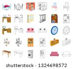 furniture and interior cartoon... | Shutterstock .eps vector #1324698572