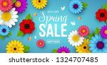 spring sale background with... | Shutterstock .eps vector #1324707485