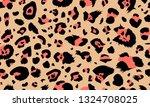 leopard seamless pattern.... | Shutterstock .eps vector #1324708025