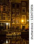 amsterdam gracht at night | Shutterstock . vector #132472856