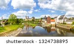 view to rochlitz  germany  | Shutterstock . vector #1324738895