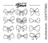 bows handdrawn illustrations... | Shutterstock .eps vector #1324757882