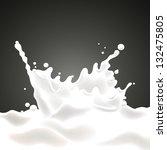 Vector Illustration Of A Milk...