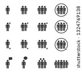 people icons   person work... | Shutterstock .eps vector #1324769138