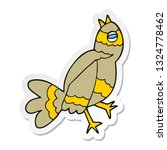 sticker of a cartoon bird | Shutterstock .eps vector #1324778462