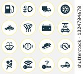 car icons set with signal ... | Shutterstock . vector #1324784678