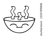 line drawing cartoon of a bowl...   Shutterstock .eps vector #1324789808