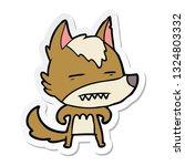 sticker of a cartoon wolf... | Shutterstock .eps vector #1324803332