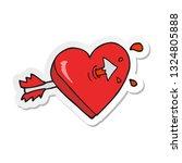 sticker of a cartoon arrow...   Shutterstock .eps vector #1324805888