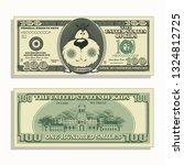 printable kids money one... | Shutterstock .eps vector #1324812725
