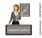 the woman points to revenue... | Shutterstock . vector #1324814645