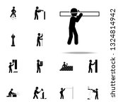 construction  board worker icon.... | Shutterstock .eps vector #1324814942