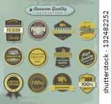 set of premium quality labels | Shutterstock .eps vector #132482252