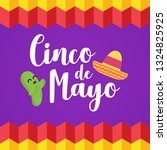 mexican festival cinco de mayo... | Shutterstock .eps vector #1324825925