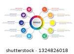 business data visualization.... | Shutterstock .eps vector #1324826018