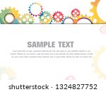 abstract techno gear background ...   Shutterstock .eps vector #1324827752