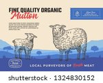 fine quality organic mutton.... | Shutterstock .eps vector #1324830152