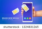 realistic memory card sim... | Shutterstock .eps vector #1324831265