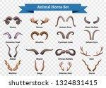 horns horizontal transparent... | Shutterstock .eps vector #1324831415