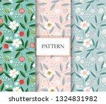 flower and fruit seamless...   Shutterstock .eps vector #1324831982