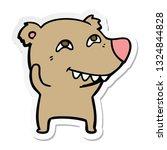 sticker of a cartoon bear... | Shutterstock .eps vector #1324844828
