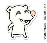 sticker of a cartoon polar bear ... | Shutterstock .eps vector #1324858415