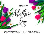 happy mothers day poster. 3d... | Shutterstock .eps vector #1324865432