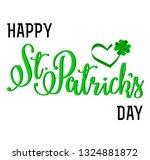 vector lettering card   happy... | Shutterstock .eps vector #1324881872
