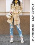 girl spring fashion style. girl ...   Shutterstock . vector #1324884935