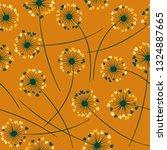 cute dandelion blowing vector... | Shutterstock .eps vector #1324887665