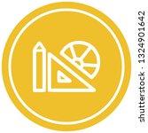 math equipment circular icon... | Shutterstock .eps vector #1324901642