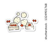 retro distressed sticker of a... | Shutterstock .eps vector #1324901768