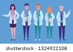 set of medical team concept ... | Shutterstock .eps vector #1324922108