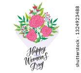 vector happy women's day... | Shutterstock .eps vector #1324923488