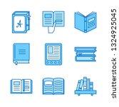 vector set of books in  flat... | Shutterstock .eps vector #1324925045
