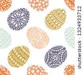 vector easter seamless pattern... | Shutterstock .eps vector #1324933712