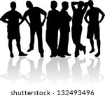 silhouette of a man | Shutterstock .eps vector #132493496